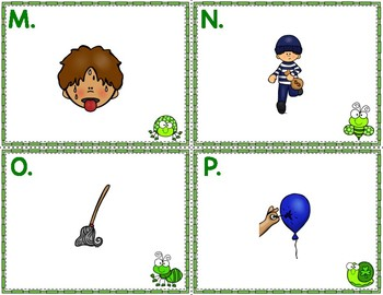 St. Patrick's Day Write the Room CVC Short O Phonics Game