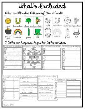 St. Patrick's Day Write the Room ~ Differentiated