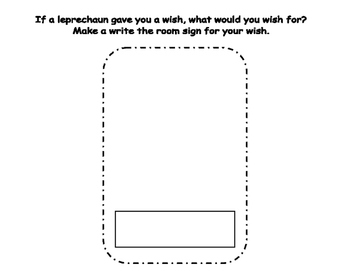 St. Patrick's Day Write the Room- Includes 3 levels of answer sheets
