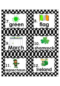 St. Patrick's Day Write the Room, Literacy Centers