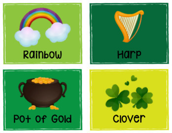 St. Patrick's Day Write the Room - Low Prep Kindergarten Writing Center