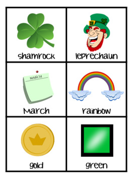 St. Patrick's Day Write the Room Vocabulary Practice