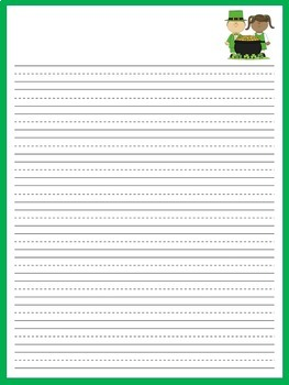 St. Patrick's Day Writing Paper | St. Patricks Day Activity