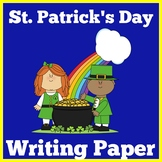 St Patricks Day | Writing Paper | Kindergarten 1st 2nd 3rd Grade