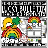 St. Patrick's Day Writing Prompts Pennants - How to Catch a Leprechaun Writing