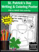 St. Patrick's Day Writing Activity, Coloring Poster for Bulletin Boards