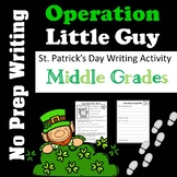 St. Patrick's Day Writing Activity - Middle School - No Prep