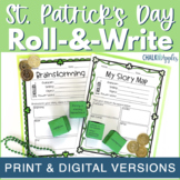 St. Patrick's Day Writing Activity - Roll & Write Center