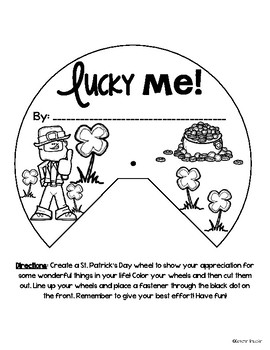 St. Patrick's Day Writing Activity Wheel FREEBIE