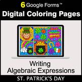 St. Patrick's Day: Writing Algebraic Expressions - Digital