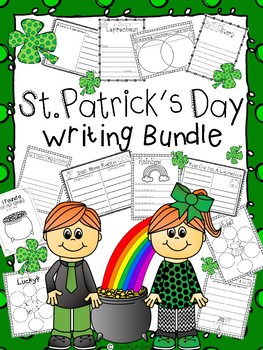 St. Patrick's Day Writing BUNDLE | Letter, Recipe, Lists, Poem, Card, Story