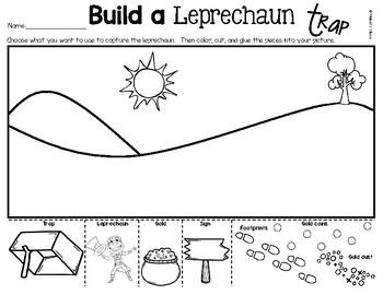 St. Patrick's Day Writing Build A Leprechaun Trap