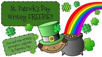St. Patrick's Day Writing FREEBIE!