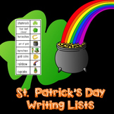 St. Patrick's Day Word Writing List