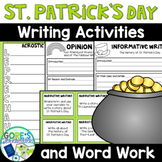 St. Patrick's Day Writing and Word Work Activities