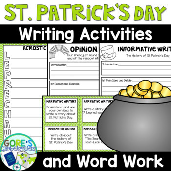 St Patricks Day March Writing And Word Work Activities Tpt