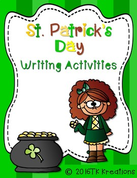 St Patrick's Day Writing Packet plus a Craftivity