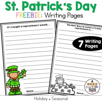 St. Patrick's Day Writing Pages FREEBIE