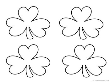 St. Patrick's Day Shamrock Writing Paper