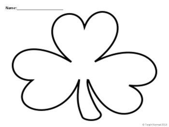 St. Patrick's Day Shamrock Writing Paper