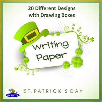 St. Patrick's Day Writing Paper - Lined Paper with Drawing