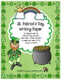 St. Patrick's Day Stationery- Lined Writing Paper with Fun Borders to Color!
