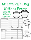 St. Patrick's Day Writing Paper St. Patricks Day Writing Paper Templates