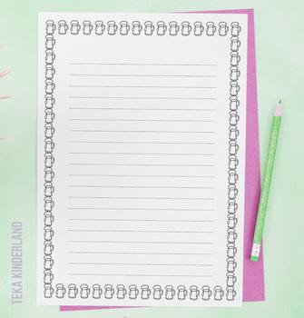 St Patrick's Day Writing Paper Templates Printable {Teka Kinderland}