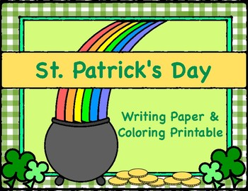 St. Patrick's Day Writing Paper and Coloring Printable