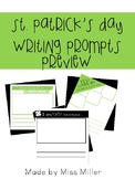 St. Patrick's Day Writing Prompt in Color and B&W