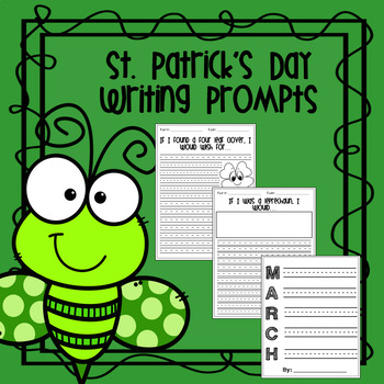 St. Patrick's Day Writing Prompts {FREE for 100 Reviews}