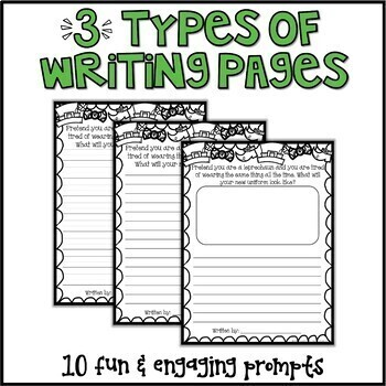 St. Patrick's Day Writing Prompts & Page Topper Craftivities
