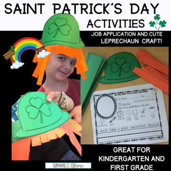 St. Patrick's Day Craft and Differentiated Writing Frames for K-2