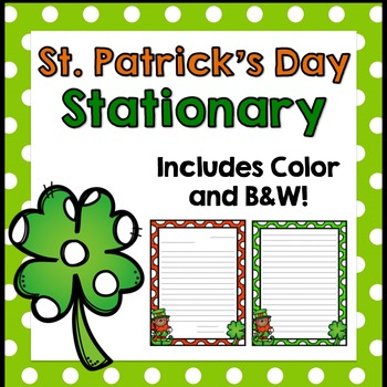 St. Patrick's Day Writing Stationary