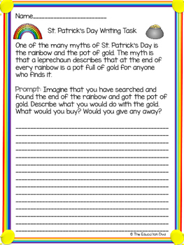 St. Patrick's Day Writing Tasks