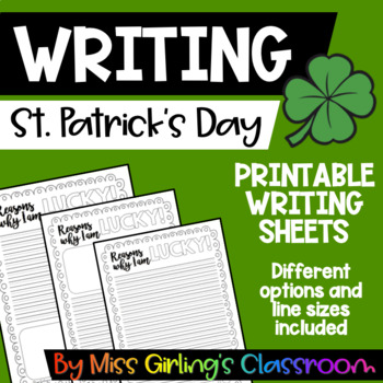 St Patrick's Day Writing Templates