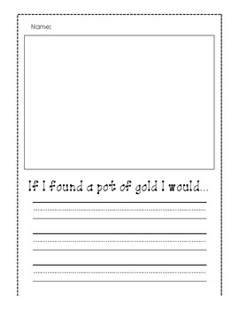 St. Patrick's Day Writing Templates