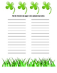 St. Patrick's Day Writing & Word Work