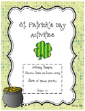 St. Patrick's Day Writing and Grammar