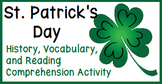 St. Patrick's Day: a Vocabulary and Reading Comprehension