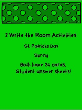 St. Patrick's Day and Spring Write the Room Activities Time Hour and Half Hour