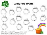 St. Patrick's Day Speech Articulation Practice