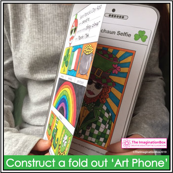 St Patricks Day Coloring Pages - Fun Art Phone Activity