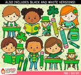 St. Patrick's Day at School Clip Art