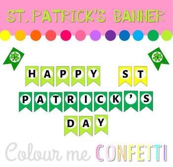 St. Patrick's Day banner - Colour me Confetti