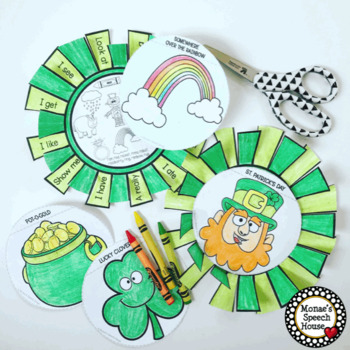St. Patrick's Day built-in CARRIER PHRASES SPEECH THERAPY Easter