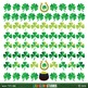 St. Patrick's Day clip art/borders with Irish flag, rainbow, shamrocks TPT196