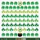 St. Patrick's Day clip art/borders with Irish flag, rainbo