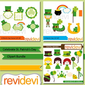 St. Patrick's Day clip art bundle (3 packs)