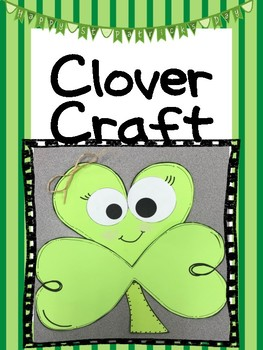 St Patrick's Day clover craft with writing prompt